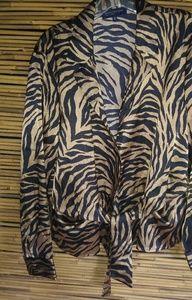 Jones NY Gold Black Tiger Top Sz XL